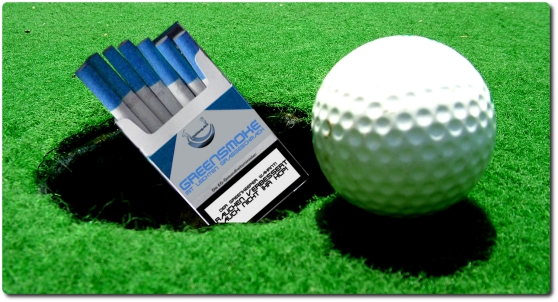 Golfen und Rauchen