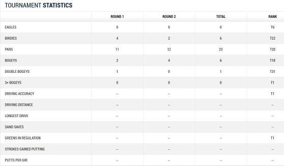 Masters 2014 Berhard Langer Tag 2 Statistik